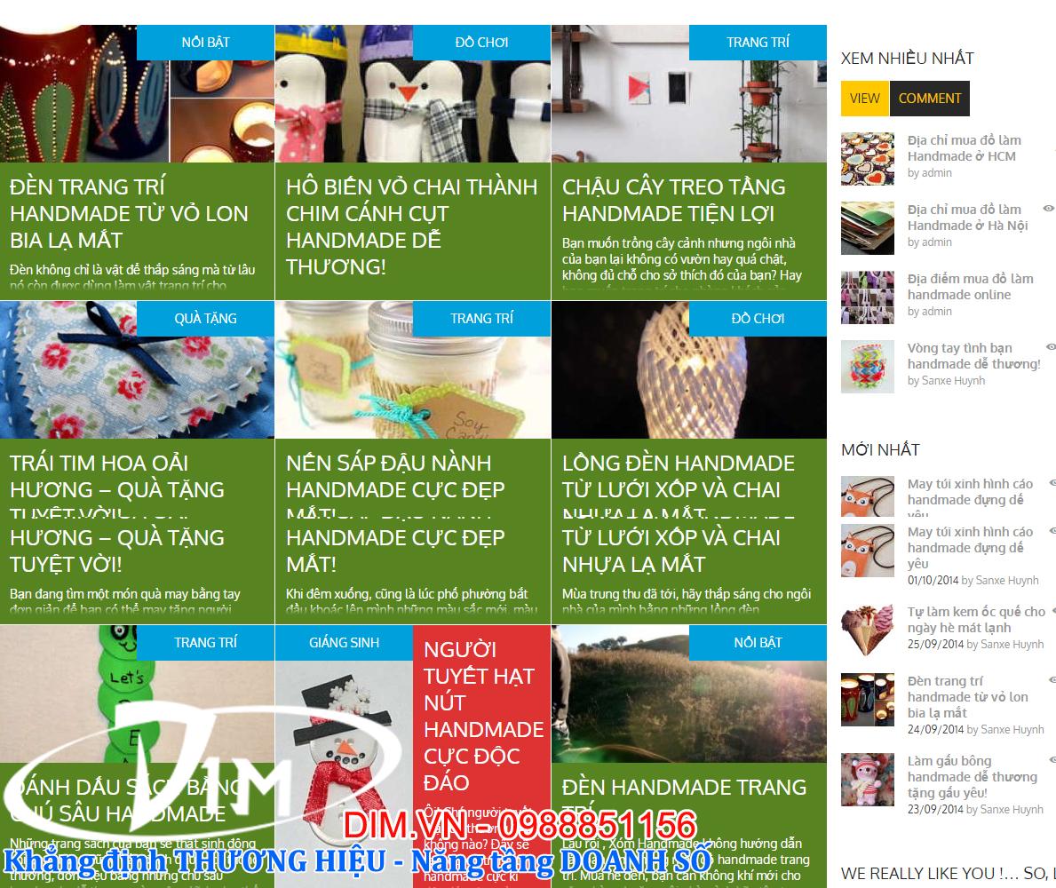 làm website kinh doanh đồ handmade