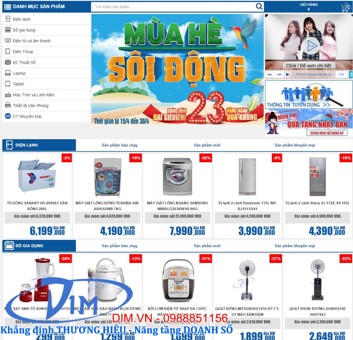 làm website bán đồ điện tử giá rẻ
