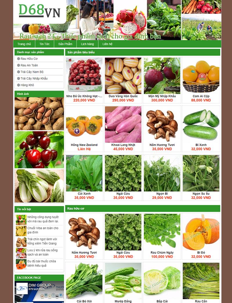 Thực phẩm sạch desktop