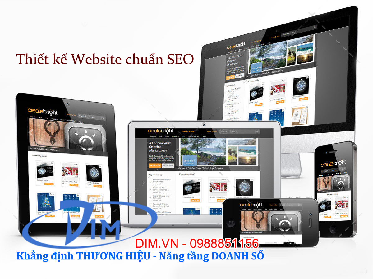 thiết kế website giao diện mobile