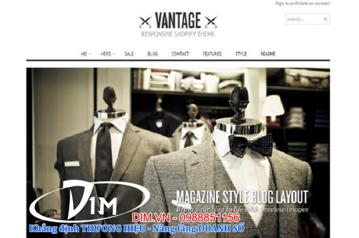 thiết kế web thời trang giá rẻ