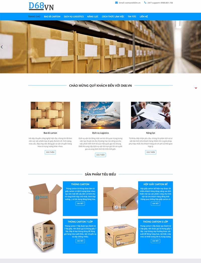 Thế giới bao bì Carton desktop
