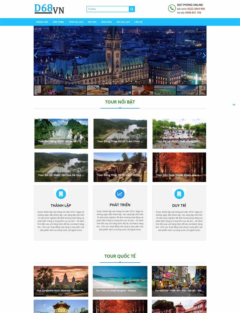 Đặt Tour Online desktop