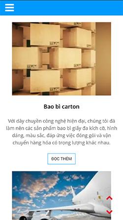 Thế giới bao bì Carton mobile
