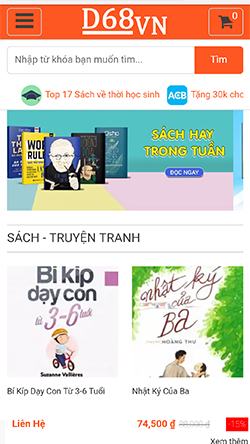 Thư viện sách mobile