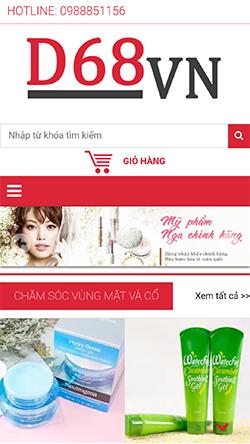 Shop mỹ phẩm Nhật - Nga mobile