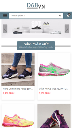 Shop giầy thể thao  mobile