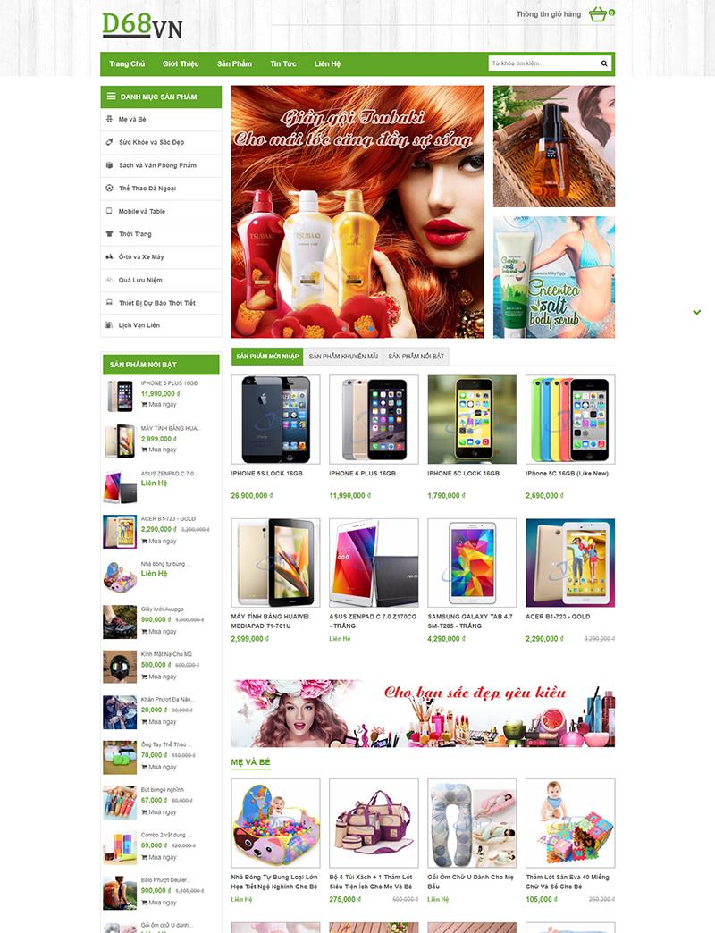 Siêu thị trực tuyến desktop
